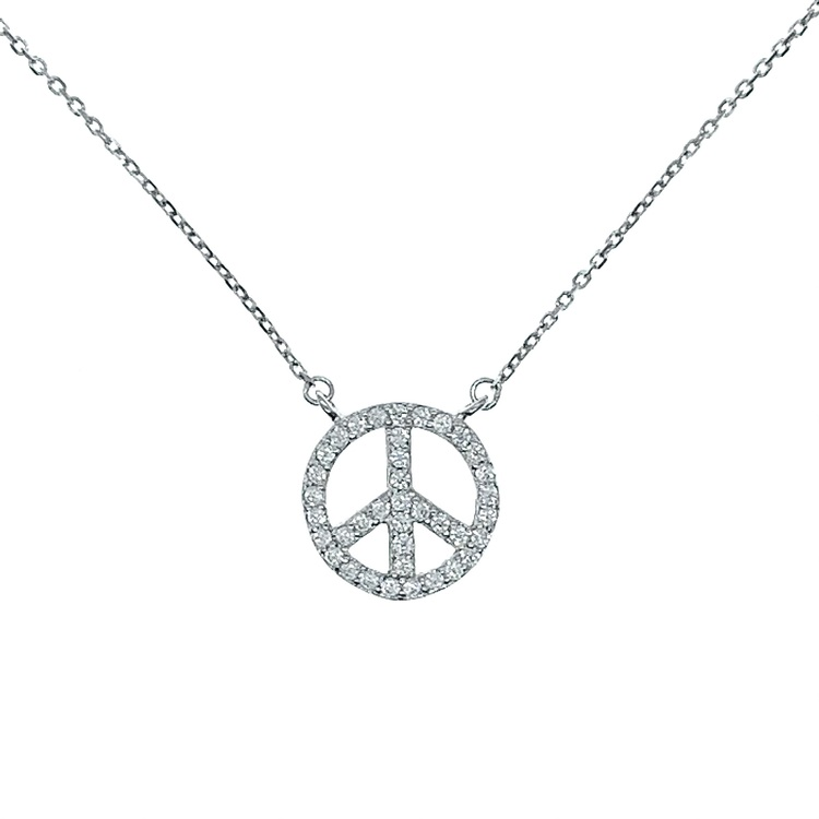 Halsband Peace Sparkling Silver