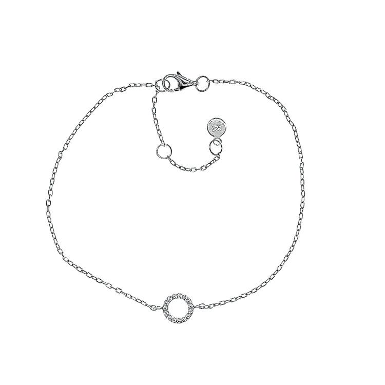 Armband Sparkling Circle Silver