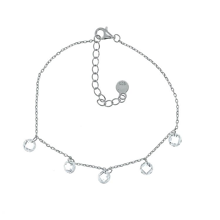armband i silver med berlocker från Catwalk Jewellery