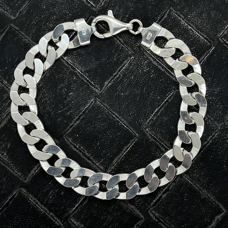 pansararmband i silver från catwalksmycken