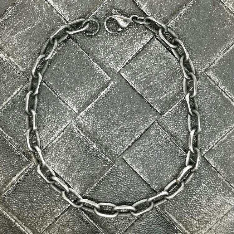 Armband Ankar Oxiderat Stål - 6 mm