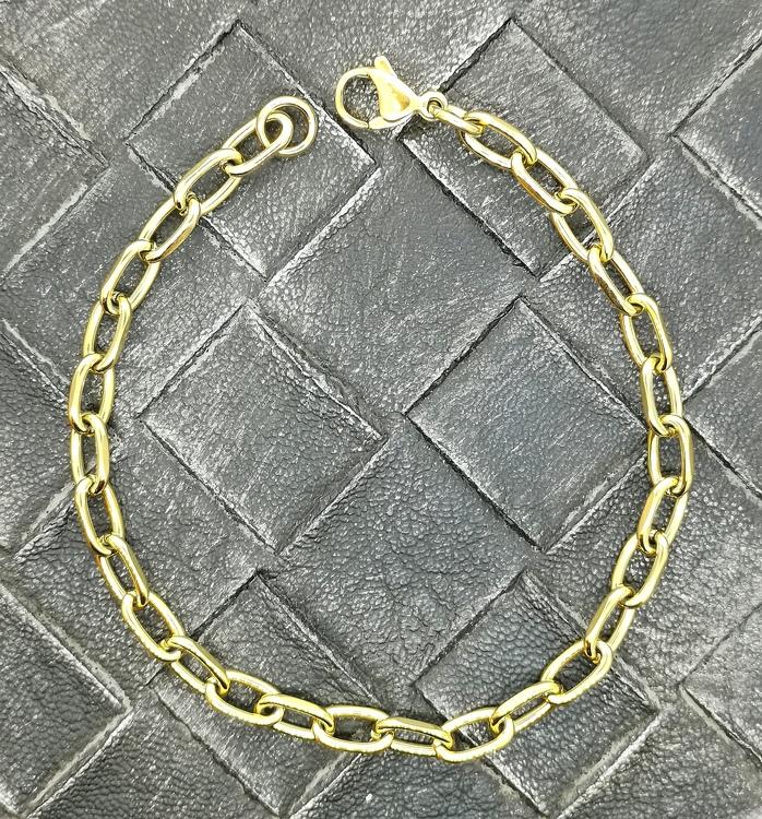 Armband Ankar Förgyllt Stål - 6 mm