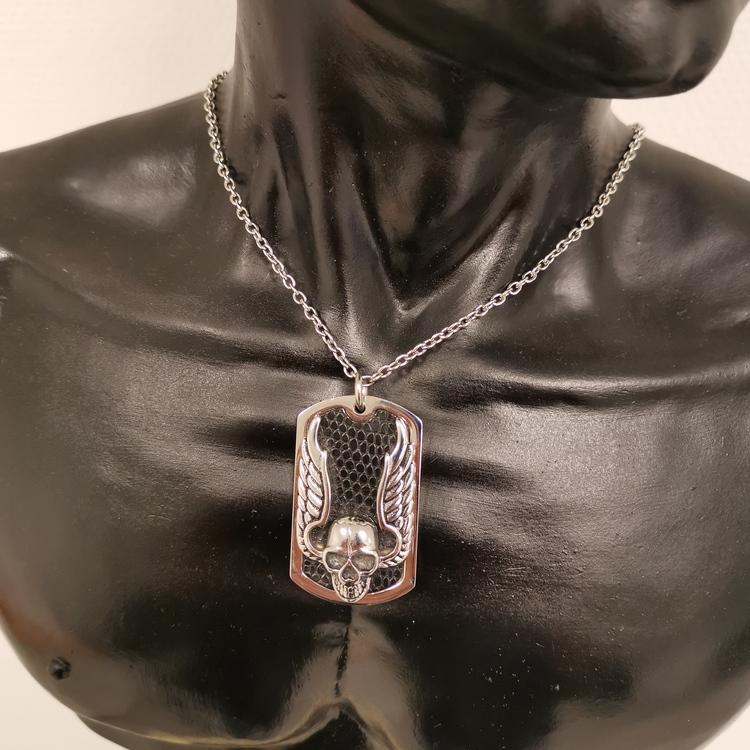 Halsband Dödskalle Stål