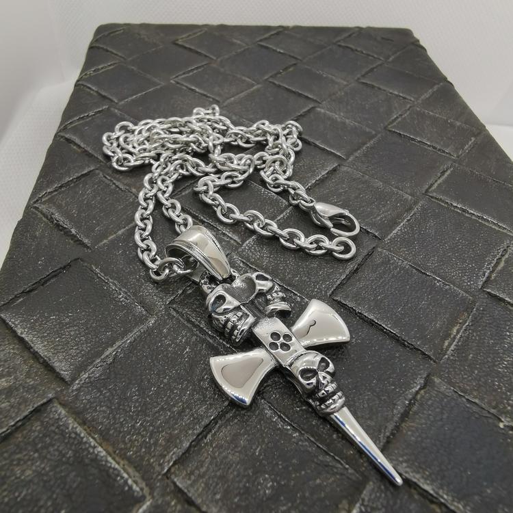 coolt halsband i silver till honom från Catwalk jewellery