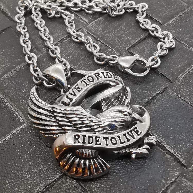 """Steelhänge """"Live to Ride"""" Eagle - inkl. 60 cm kulkedja"""