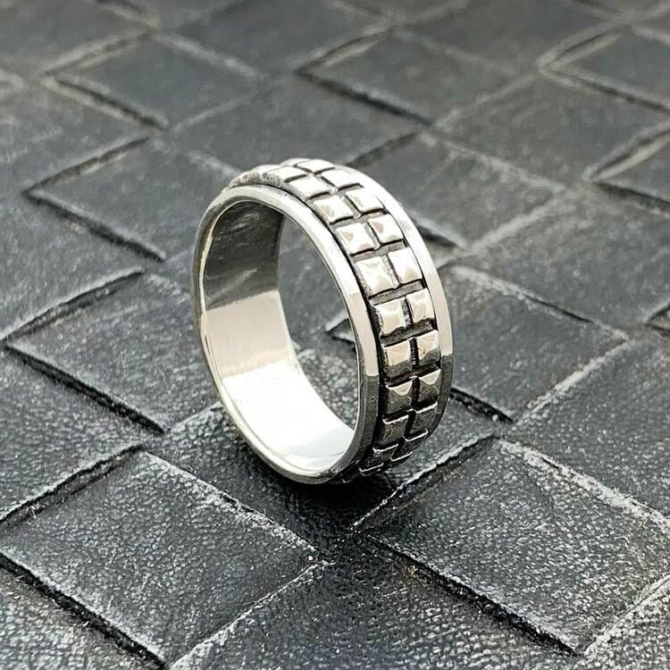 Spinning Ring Nitar Oxiderat Silver