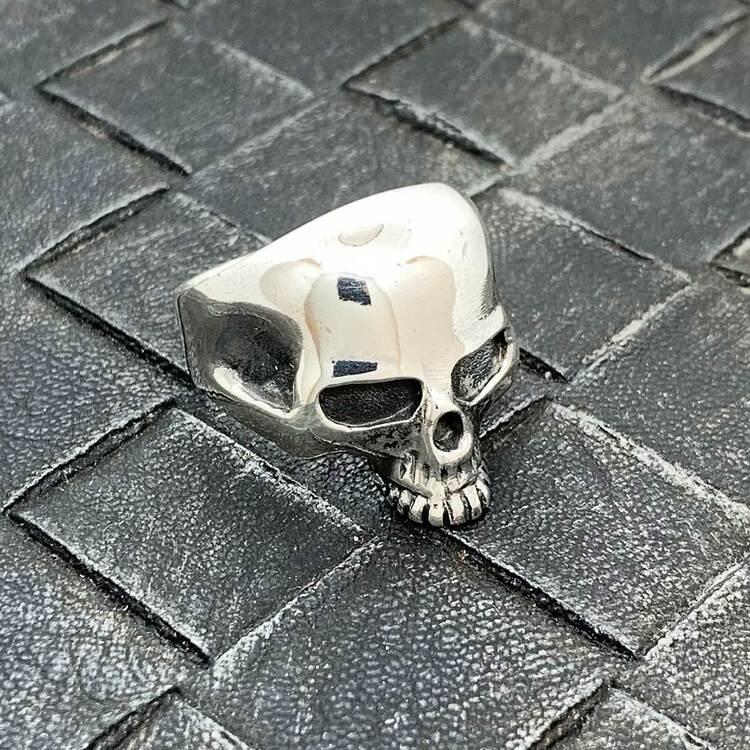 Ring Skull i 925 oxiderat silver