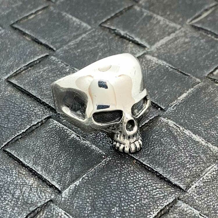 Ring Skull Oxiderat Silver