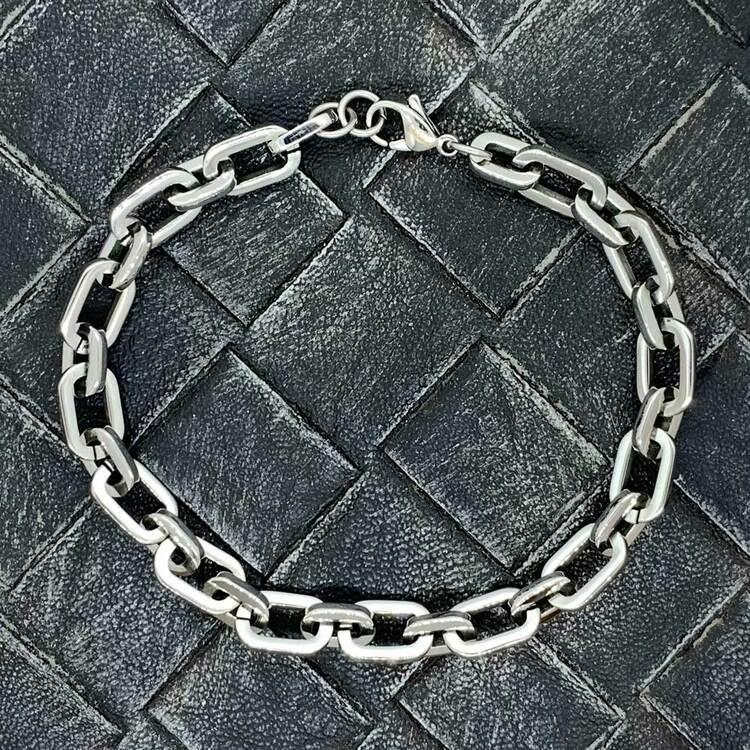 Armband i kirurgiskt stål - 21 cm