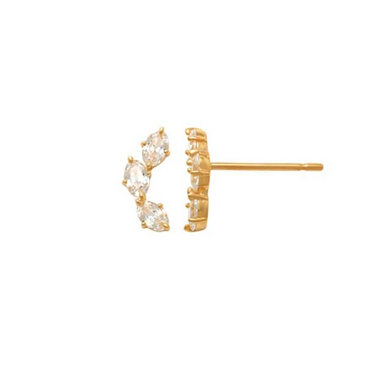 Örhängen med cz-stenar 18K Guld