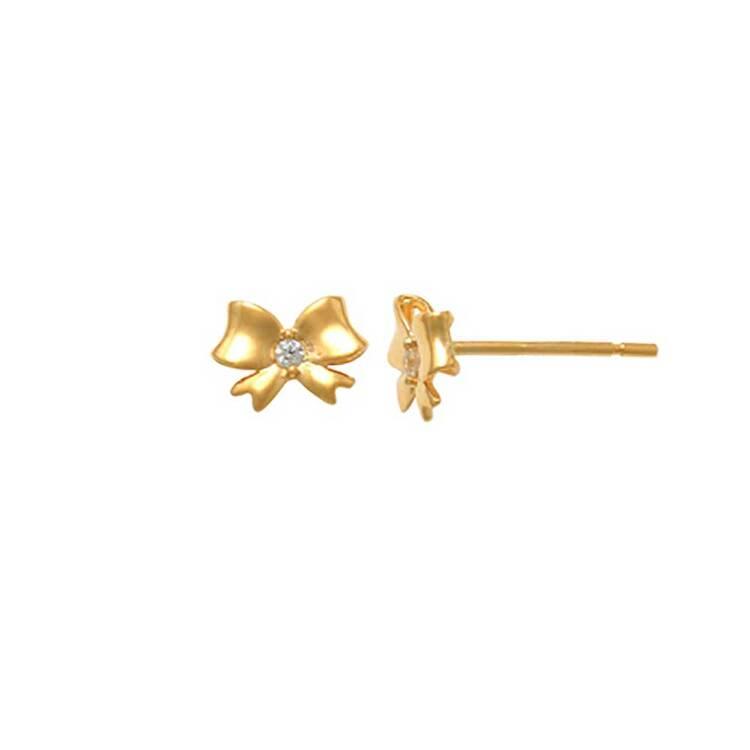 Örhängen Rosett med cz-sten 18K Guld