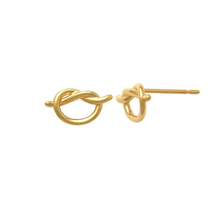 Örhängen Love knot 18K Guld