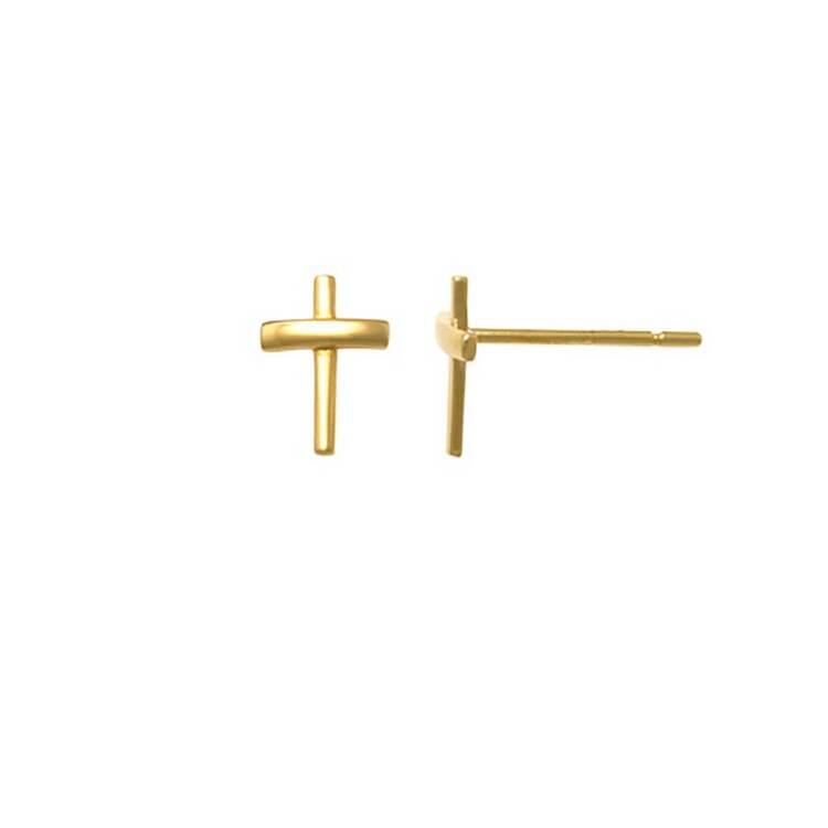 Örhängen Kors 18K Guld