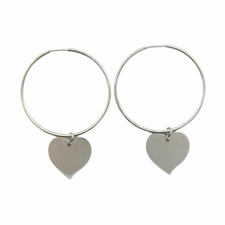 Creoler Heart Rhodinerat Silver