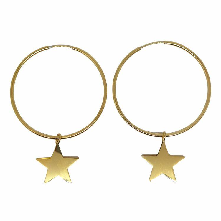 Creoler Star Förgyllt Silver