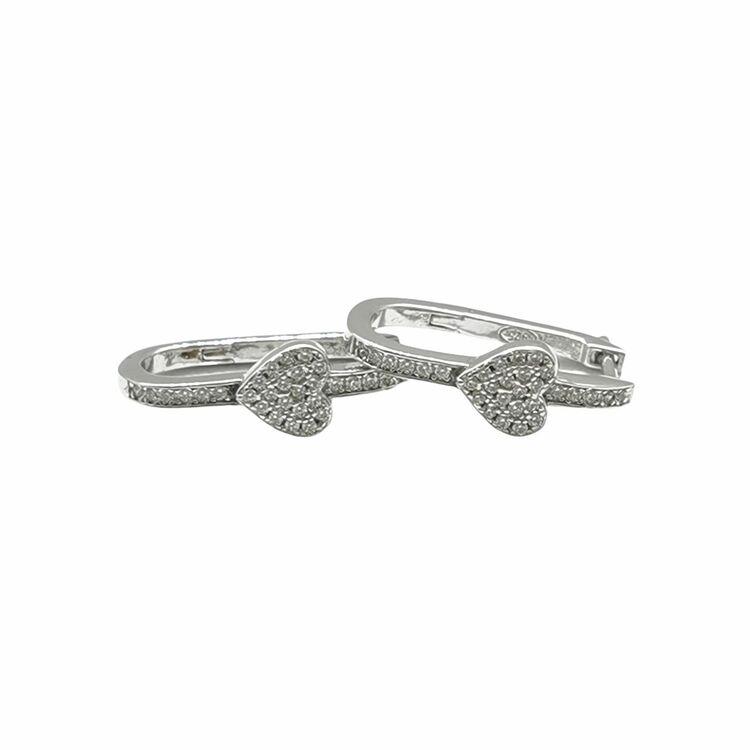 Örhängen Unique Heart Silver