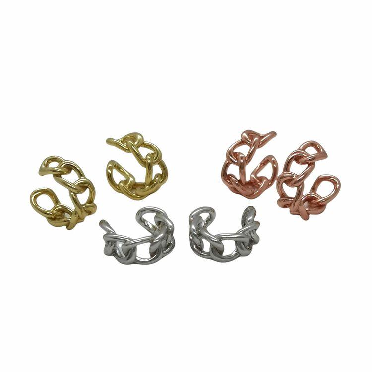 Earcuffs Chain Rhodinerat Silver