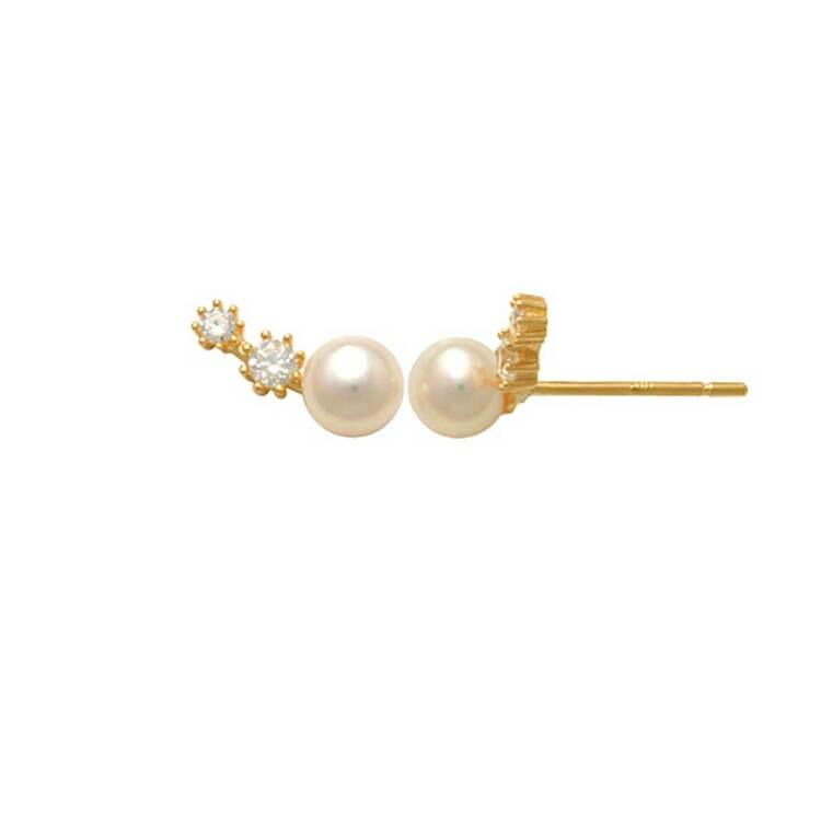 Örhängen Pearl and stones 18K Guld