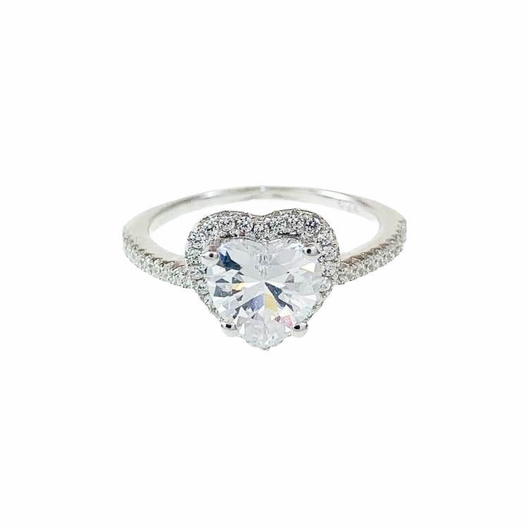 vacker ring i silver, hjärta silverring till tjej från catwalksmycken