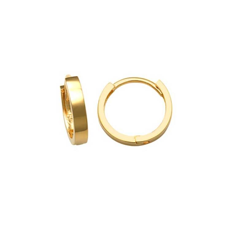 Creoler 18K Guld - 10x1,9 mm