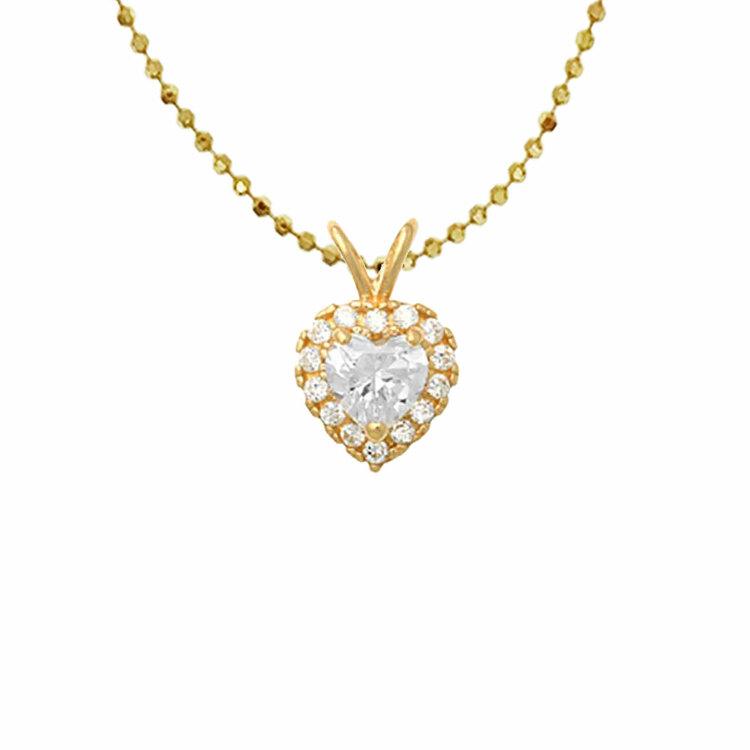 Guldhänge Heart med cz-stenar 18K