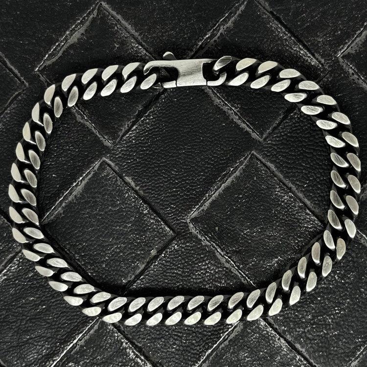 pansararmband för män i oxiderat silver från catwalk jewellery