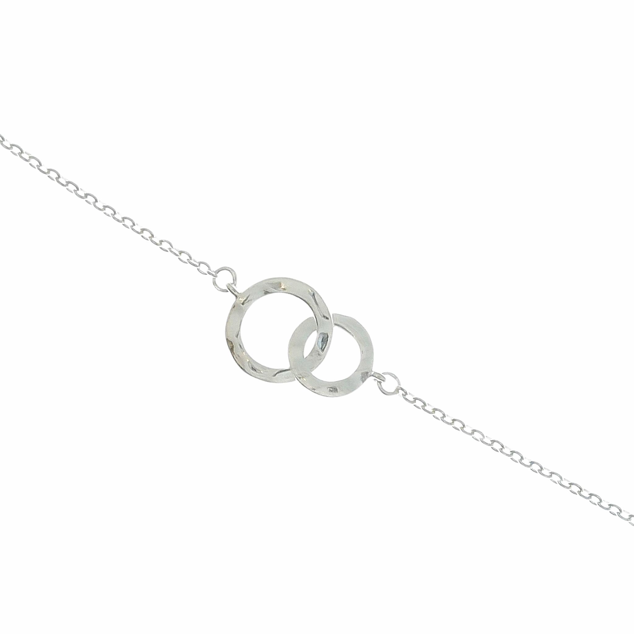 Rosa Bandet Armband Small Love Rings Silver