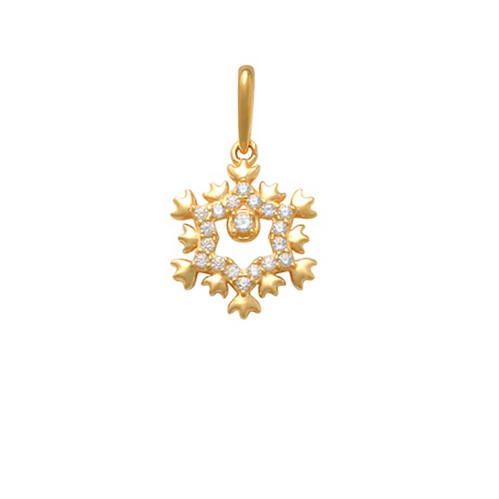 Guldhänge Snowflake med cz-stenar 18K