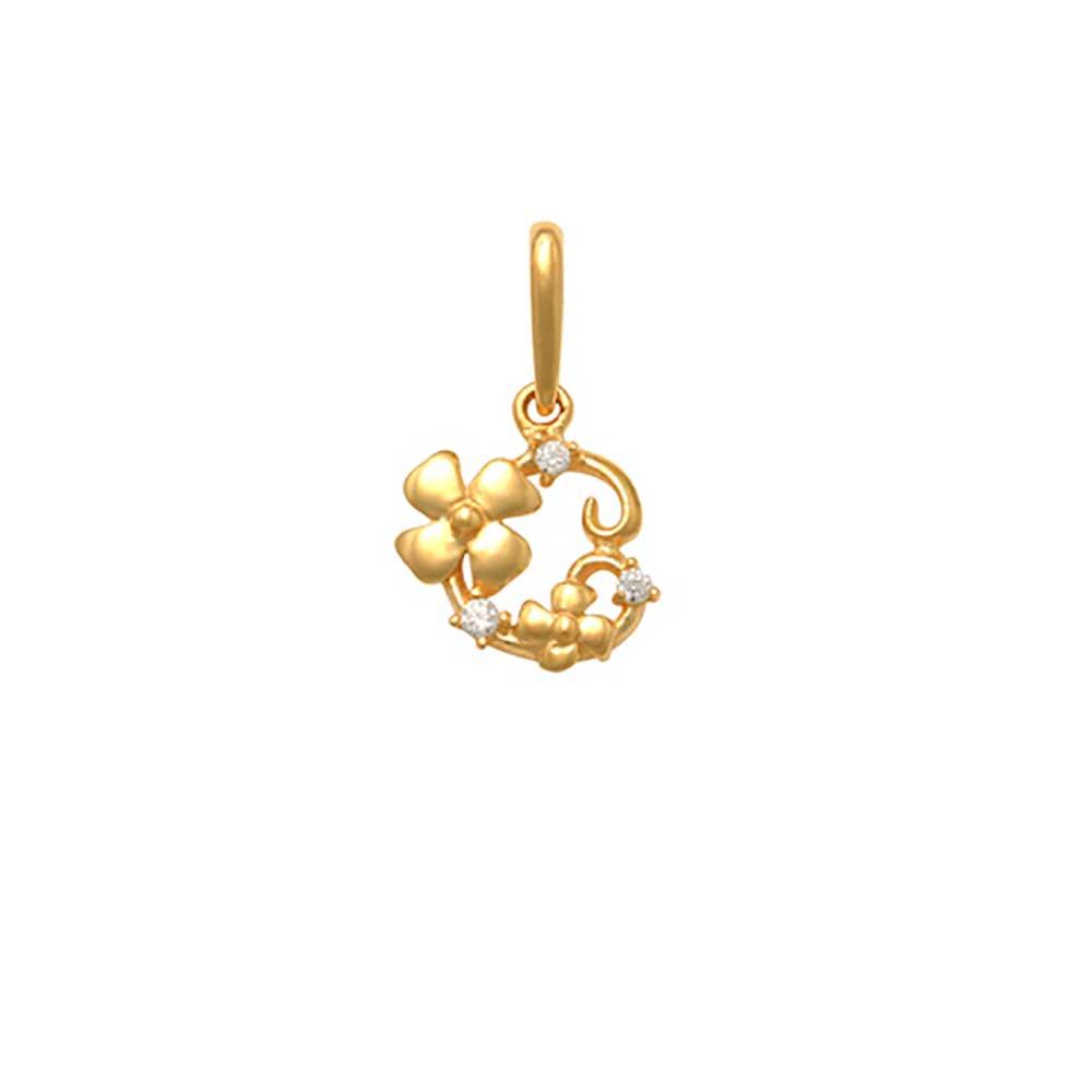Guldhänge Flowers med cz-stenar 18K