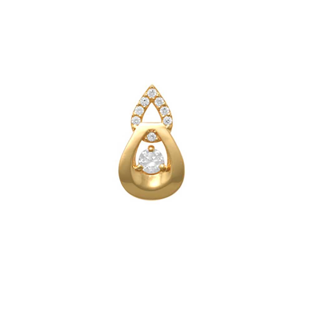 Guldhänge med cz-stenar 18K