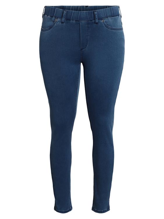 7/8 Jeans med stretch och resår i midjan