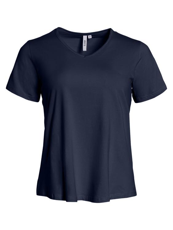 T-shirt i A-form marinblå
