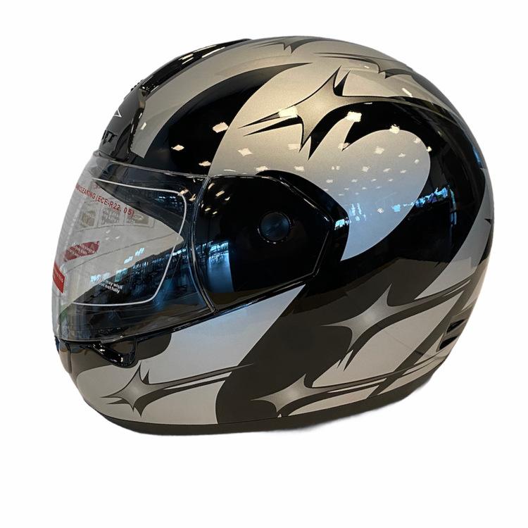 Motorcykelhjälm MAX-603 hjälm Svart/silver
