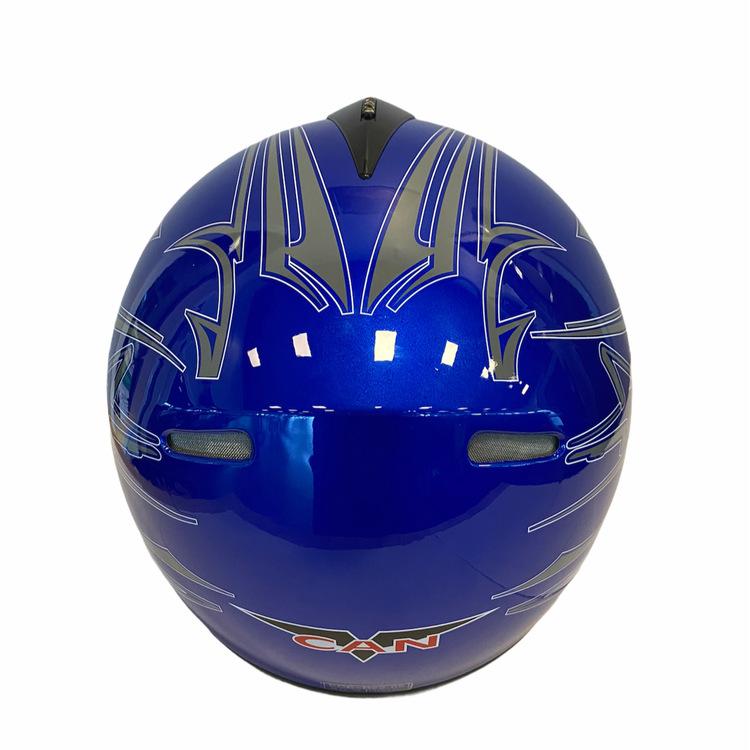 Motorcykelhjälm V-190 hjälm Blå/svart