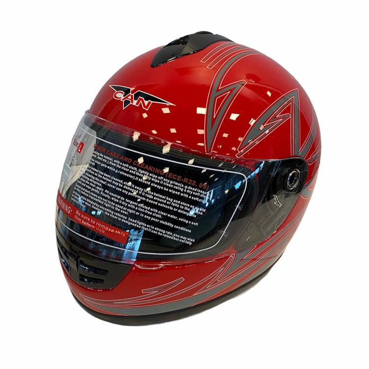 Motorcykelhjälm V190 Röd/silver