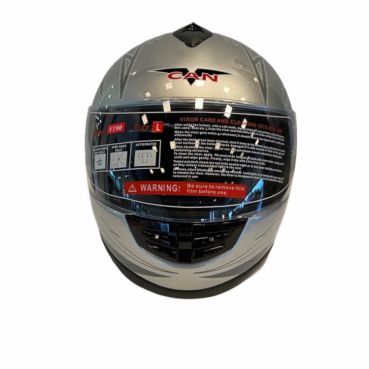 Motorcykelhjälm V190 Silver