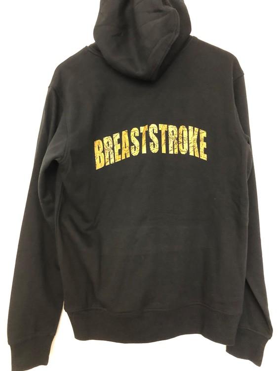 """Huvtröja med """"BREASTSTROKE"""" på ryggen"""
