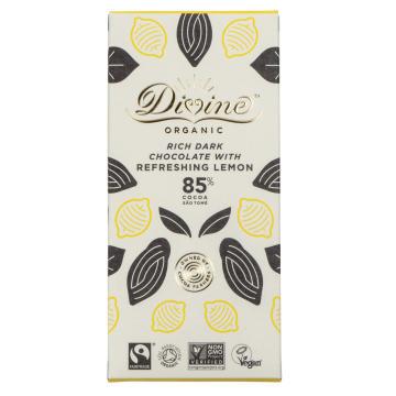 Divine Eko, mörk choklad, 85%, ekologisk, citron