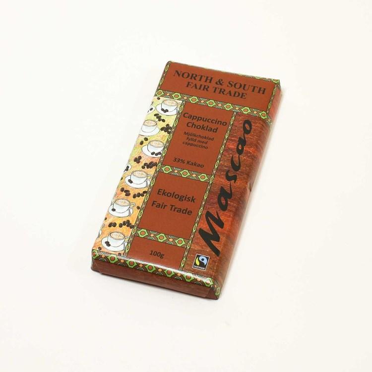 Mascao Cappuccino choklad, ekologisk, 100 g