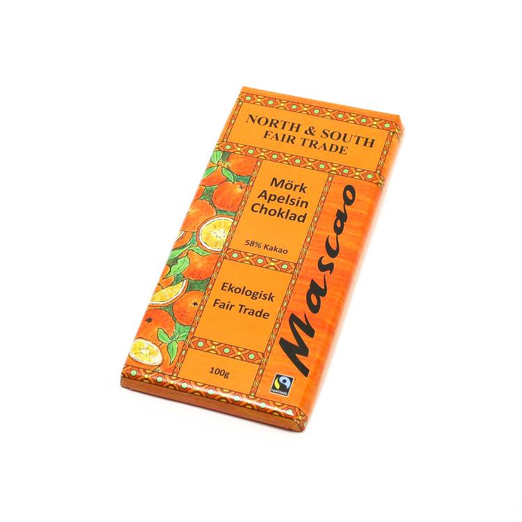 Mascao Mörk apelsinchoklad, ekologisk, 100 g