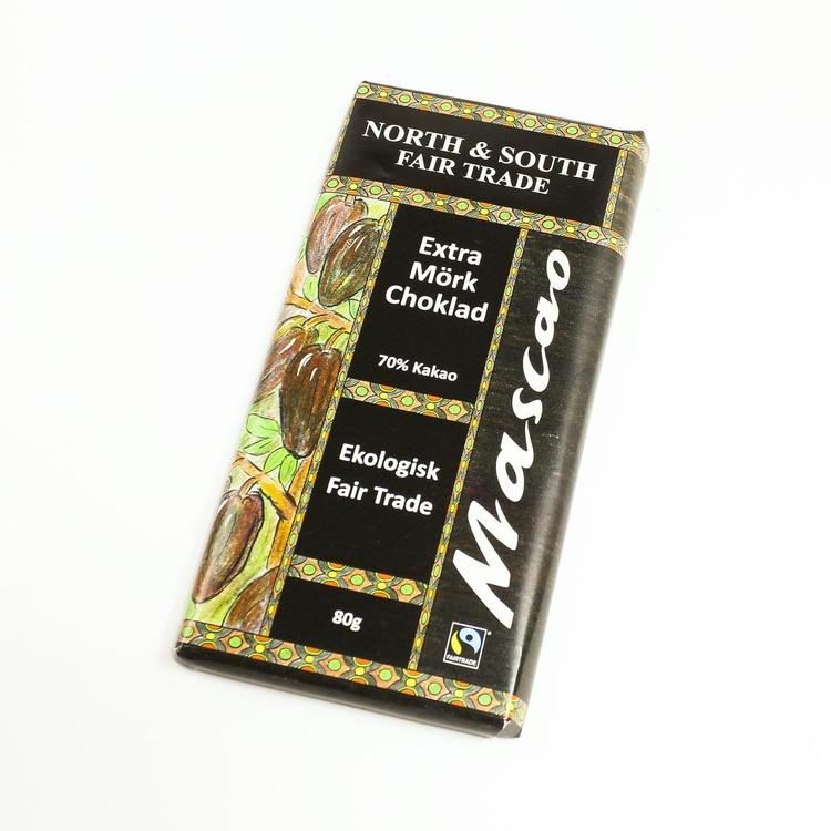 Mascao Extra mörk choklad, ekologisk, 80 g