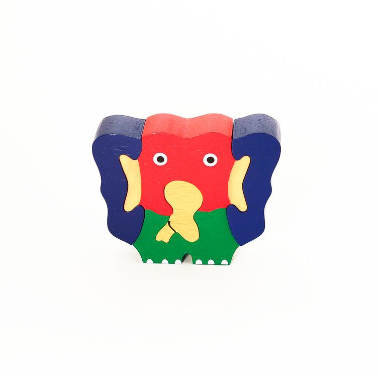 Pussel i trä, elefant
