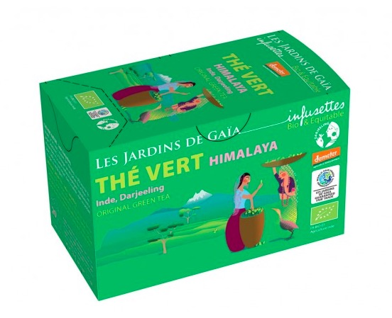 Grönt te 'Himalaya', ekologiskt påste