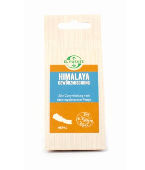 Curryblanding Himalaya, stark. Från Nepal, fair trade. Refillpåse.