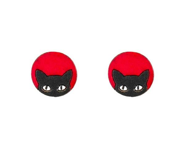 Örsmycke 'Blacky', katter, kalebass