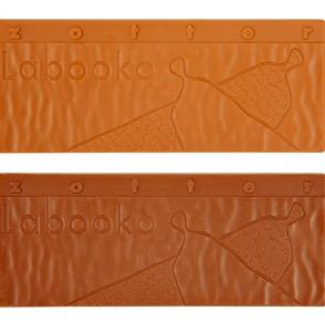 Zotter Labooko Thank You - två chokladkakor, den ljusare (ovan) är med karamellsmak.