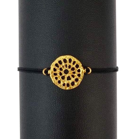Armband 'Mandala', gulddouble, Fairmined