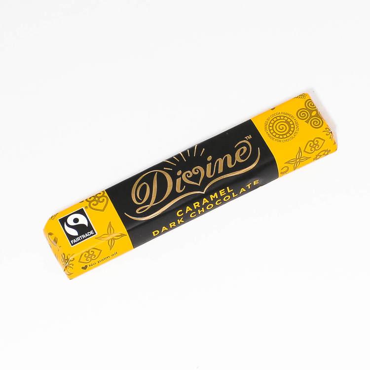Divine chokladbar, karamellchoklad, mörk