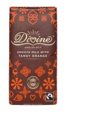 Divine Mjölkchoklad med apelsinsmak