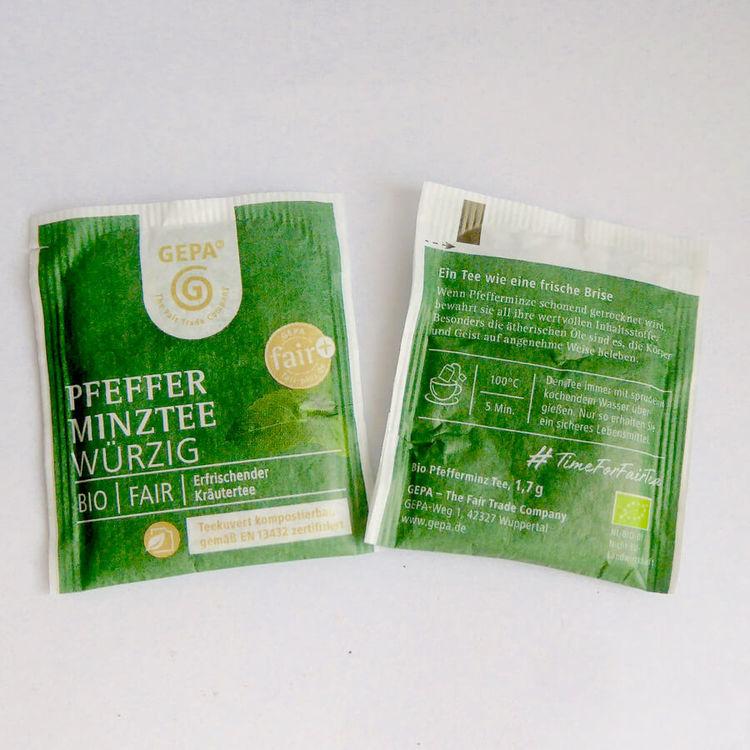 Pepparmyntste från Egypten, ett påste som är ekologiskt & Fairtrade. Uppfriskande smak. Miljövänlig förpackning.